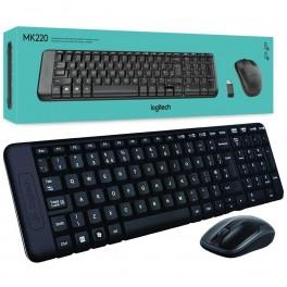 Kit Teclado + Mouse Inalambrico Logitech MK220